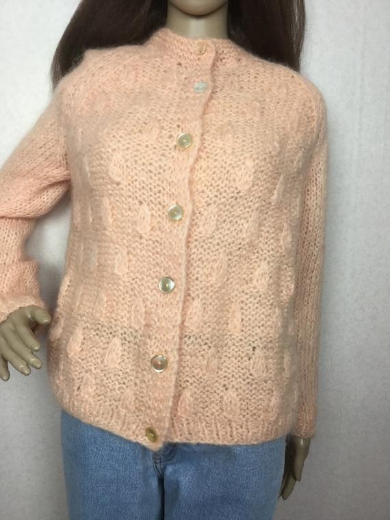 Vintage Italian Mohair  Cardigan Sweater,  Sm , 6… - image 8