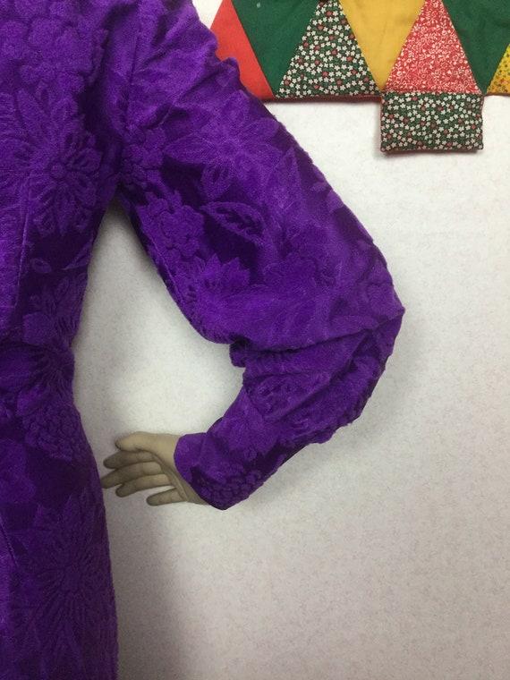 70s Purple Jumpsuit,Palazzo Jumpsuit , Gold Braid… - image 9