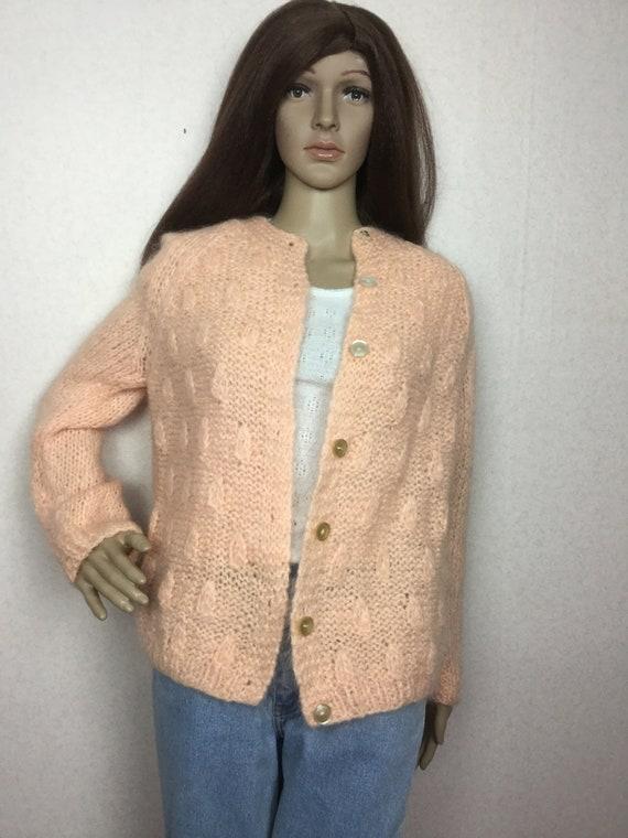 Vintage Italian Mohair  Cardigan Sweater,  Sm , 60