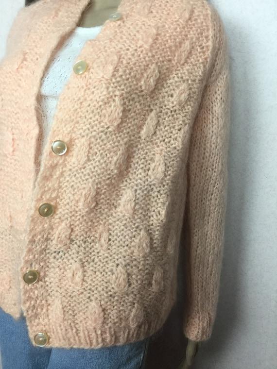 Vintage Italian Mohair  Cardigan Sweater,  Sm , 6… - image 7