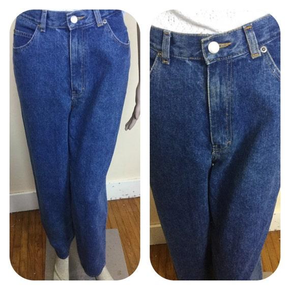 Vintage 80s High Waist jeans  Dark Denim jeans Sli