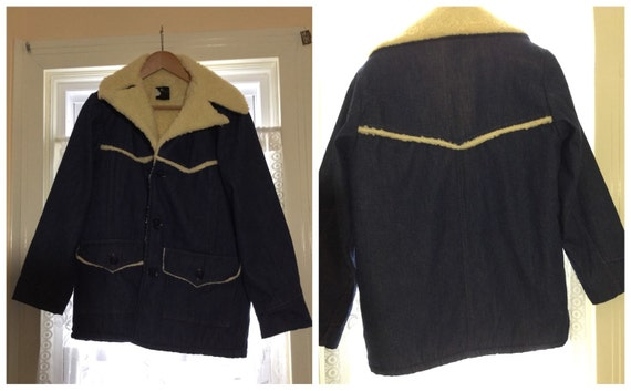 Vintage 70s SEARS  Mens DENIM coat   Sears  shepra