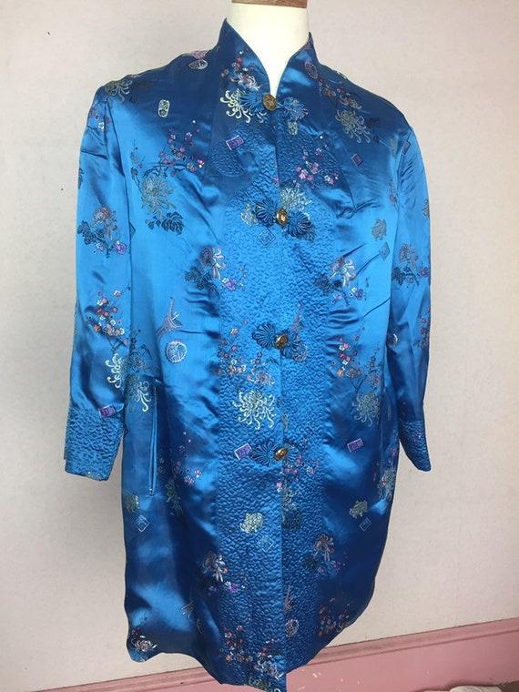 Vintage 50s Kimono Coat  embroidered novelty Duste