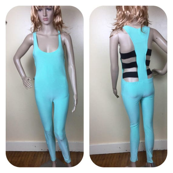 vintage 80s  Dancewear , Unitard ,one piece shiny