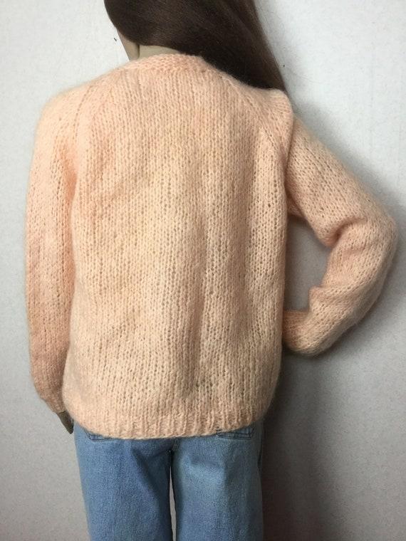 Vintage Italian Mohair  Cardigan Sweater,  Sm , 6… - image 2