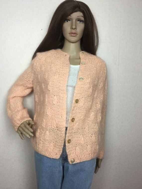 Vintage Italian Mohair  Cardigan Sweater,  Sm , 6… - image 5
