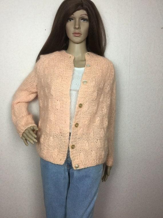 Vintage Italian Mohair  Cardigan Sweater,  Sm , 6… - image 3