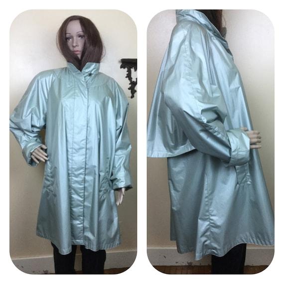 Sale Vintage  80s  RAINCOAT,PVC Raincoat , Shiny G