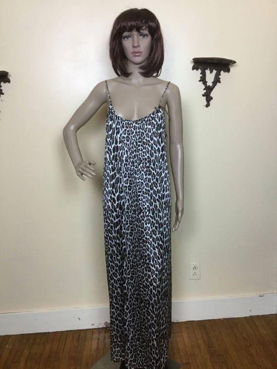 Leopard Nightgown ,   VAnity Fair  Long Nightgown