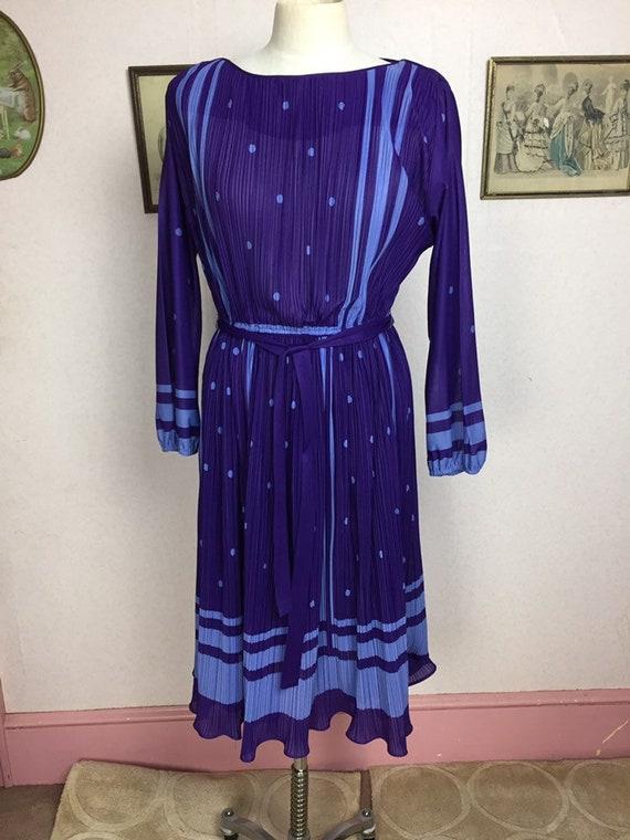 Vtge artemis 70s dress, mod psychedelic mini dress