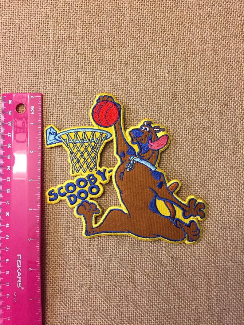 Basketball Scooby Doo Large Iron On Patch Etsy