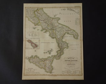 Antique palermo map | Etsy