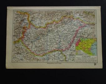 Alte historische Stadtkarte Wien Übersicht Stadtplan Lithographie 1908