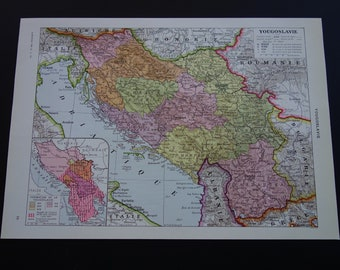 Alte Jugoslawien Karte.Yugoslavia Kitchen Etsy