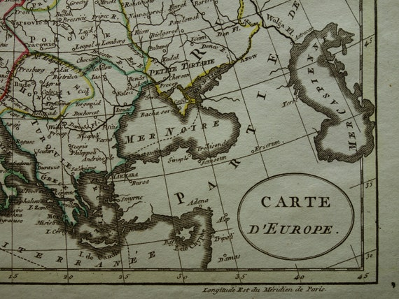 carte mere atlas 200s boot f EUROPE Antique map 1802 original 200 years old hand colored | Etsy