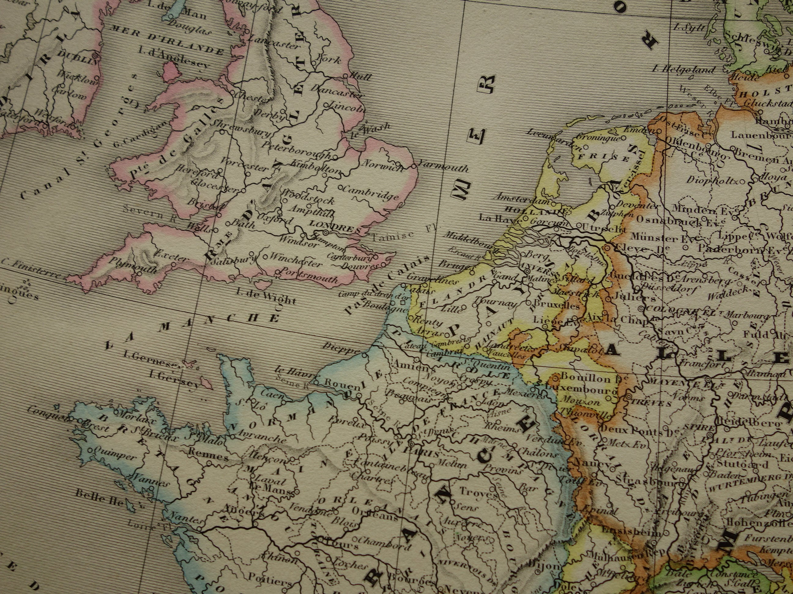 Europe Antique Map 1863 Large Poster Of Continent In 16th Etsy