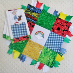 Alligator embroidered baby burp cloth and 12 inch ribbon trim lovie baby shower gift set baby boy layette madras navy /& green patchwork