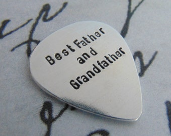 Fathers Day Gift, Best Grandpa, Personalized Guitar Pick, Grandpa Gift, Anniversary Gifts, Dad Gift