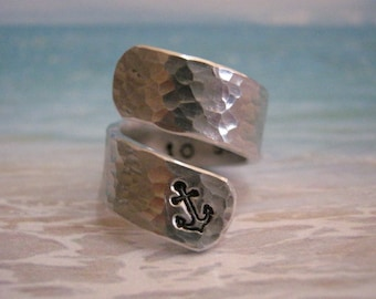 Marine girlfriend, I Refuse to Sink, Anchor ring, Hammered ring, Fathers day, Man,  I Refuse to Sink Ring,Boyfriend Gift, Mans gifts