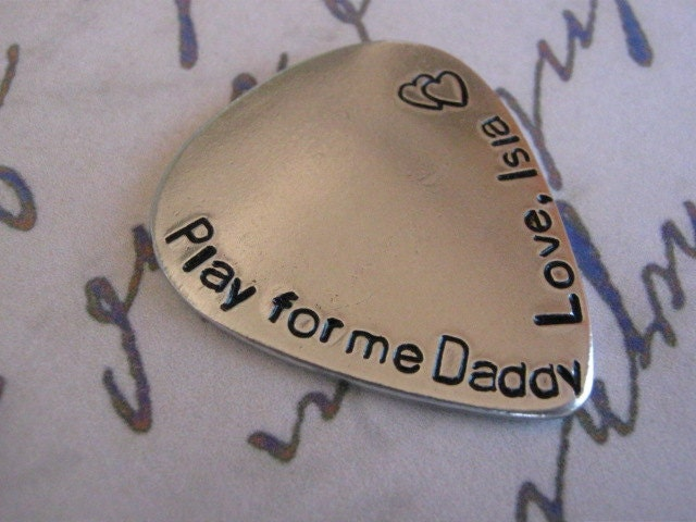 Father's Day, Personalized Fathers Gifts, Fathers day gift, Gift for Dad, Custom Guitar Pick, Guitar, Mens Gifts, Anniversary gifts for men