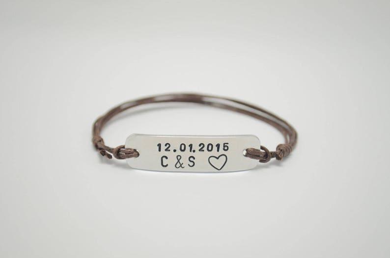 Couples bracelet Engraved bracelet Custom name Name image 0