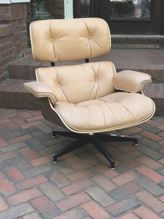 Fabulous Authentic Charles Ray Eames Lounge Chair Signed Tan Leather Mcm Beautiful Caraccident5 Cool Chair Designs And Ideas Caraccident5Info