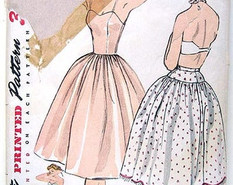 50s Slip & Petticoat. Simplicity Sewing Pattern 3739.  Size 16  Bust 34""