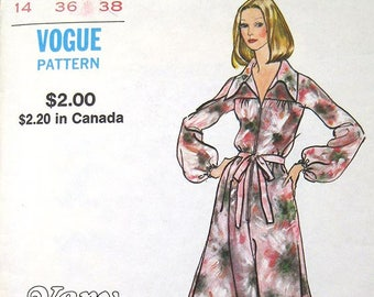 """70s Loose Fitting Jumpsuit, Palazzo Pant. Very Easy Vogue Sewing Pattern 8185 Size 14 Bust 36"""""""