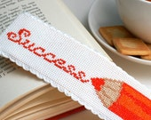Cross stitch bookmark pattern, embroidery bookmark, book lover gift, literary gifts, custom bookmark, easy cross stitch, aida band pattern