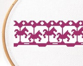Border cross stitch pattern ,  crossstitch ornaments , easy chart , beginner cross stitch , digital pattern , PDF Download , diy embroidery