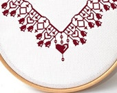 Counted cross stitch pattern , border pattern , easy chart , beginner crossstitch , xstitch edge , Embroidery Borders , diy embroidery