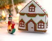 Cross stitch  pattern christmas house ornament , 3D Cross Stitch pattern pdf , Christmas decorations DIY , holiday cross stitch design
