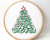 Christmas Tree cross stitch pattern , Counted Cross stitch pattern , modern christmas tree , holiday's pattern , crossstitch pattern