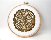 Cross stitch pattern - tree rings - modern cross stitch - abstract crossstitch pattern - geometric pattern - tree cross stitch pattern