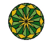Mandala cross stitch pattern-  Adult Coloring Mandala - Mandala Art  - Art Cross stitch pattern - mandala wall art - counted cross stitch