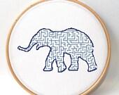 Modern embroidery pattern , Elephant cross stitch , funny crossstitch , xstitch pattern , counted cross stitch ,