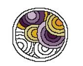 Modern cross stitch pattern - geometric pattern - Create your own Mandala - Adult Coloring Mandala - easy pattern - beginner pattern