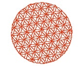 Big Flower of Life - Modern Cross stitch pattern - Silhouette pattern - CrossStitch PDF - counted cross stitch - Geometric pattern