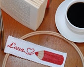 Counted cross stitch Love bookmark pattern designs, book lover gift, literary gifts, custom bookmark , easy cross stitch ,