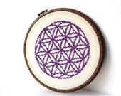 Modern Cross stitch pattern , counted cross stitch , modern embroidery , flower pattern , cross stitch PDF , xstitch pattern , Flowe of Life