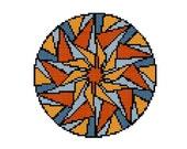 Mandala cross stitch pattern -  Create your own Mandala - Adult Coloring Mandala - Modern cross stitch - easy pattern - counted cross stitch