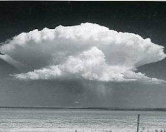Original 1950s Black & White Photograph of a lone cloud in the big Wyoming Sky ~ B234