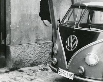 Vintage 1962 Classic Volkswagen Bus Original photo ~ B40 Serbia VW Car