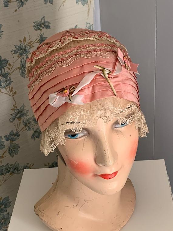 Exquisite 1920's Silk/Lace/Ribbon Rosette Boudoir
