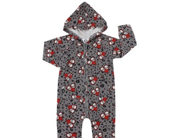 Kids Alternative Shorties Children/'s Monochrome Coverall Grey Yin Yang Baby Romper Unisex 0-6yrs Toddler Grey Onesie Goth Playsuit