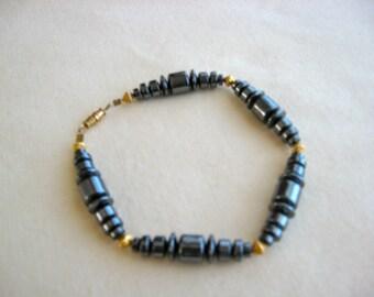 Hemtite Gemstone Bead Bracelet or Anklet