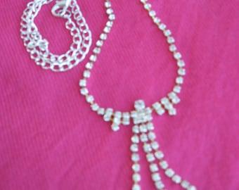 Crystal Clear Rhinestone Necklace
