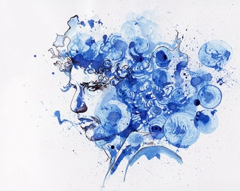 """Bob Dylan """"Tangled up in Blue"""" Canvas Print"""