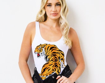 6f403486aa08a Tiger Swimsuit Bodysuit or Bathing Suit