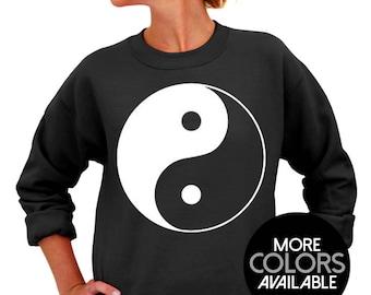 36add05a6ff5 Yin Yang - Unisex Crew Neck Sweatshirt - Yin - Yang - Men s Clothing